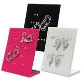 30 paires velours boucles d'oreilles présentoir de bijoux porte-vitrine