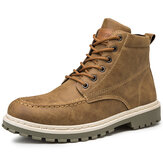 Men Comfy Slip Resistant Lace-up Casual Work Style Ankle Boots