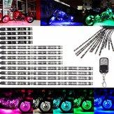 Bagliore multicolor neon wireless moto remoto 5050 LED lampeggiante 12 strisce