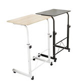 Artiss Wooden Adjustable Height Mobile Computer Desk Student Dorm Multifunctional Folding Table Bedside Desk Laptop Desk Table