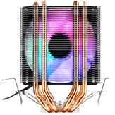 3Pin Dört Isı Borular Colorful Arkadan Aydınlatmalı CPU Soğutma Fanı Soğutucu Soğutucu Intel AMD için