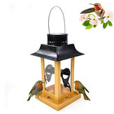 Bird Feeder Water with LED Light Hanging Garden Yard Outside Bird Drinker Tools for Yard Garden Outdoor Decoration