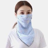 Outdoor Riding Face Mask Sommerdruck Hals Sonnenschutz Schal Maske Atmungsaktiv Schnelltrocknend