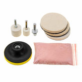 8pcs 120g Cerium Oxide Glass Polishing Powder Kit For Deep Scratch Remover