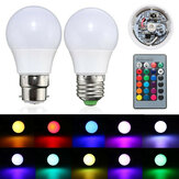 3w e27 / b22 dimmable rgb LED ampoule lampe à changement de couleur + 24 touches à distance ac 85-265v