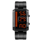 SKMEI 1791 Stainless Steel Band Fashionable Digital Watch LED Waterproof Men Wrist Watch