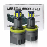 2 pezzi auto LED luci angel eyes H8 fari 1600LM 6500K con Connettore per BMW