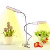 45W spectre complet 88 LED usine élèvent la lumière double tête lampe col de cygne pince pour la floraison des semis intérieur