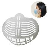BIKIGHT 10PCS 3D Máscara Estrutura de suporte interno de suporte para rosto Máscara Prevent Batom Suporte de máscara externa para ciclismo Máscara Acessórios