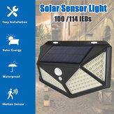 1PC / 2PCS LED الشمسية ضوء 3 طرق في الهواء الطلق ضد للماء الحركة المستشعر مصباح الجدار لحديقة الشارع