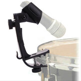 Adjustable Clip On Drum Rim Microphone Holder  Shockproof Mount Microphone Mic Clamp Stand Holder