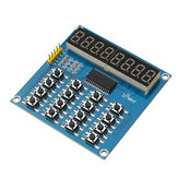 3pcs TM1638 3-Wire 16 Keys 8 Bits Keyboard Buttons Display Module Digital Tube Board Scan And Key LED Geekcreit for Arduino - products that work with official Arduino boards
