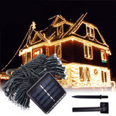 12M 100LED op zonne-energie Fairy String Light Christmas Holiday Party Outdoor Garden Decor