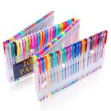 100 Colors Gel Pen Watercolor Pen Highlighter Flash Pen Metal Pastel Hook Line Pen for School Supplies