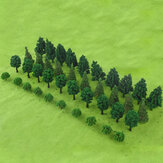 40PCS Tree Model DIY Building Sand Table Landscape Modelling Material
