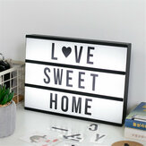 A4 DIY LED Letter Lamp Cinematic Cinema Light Up Box Sign Lightbox Message Board Home Party Wedding Decorative Set