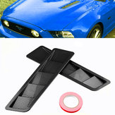 2Pcs ABS Auto Side Vent Air Flow Parafango Assetto Trim Adesivi pannello di raffreddamento per Ford Mustang