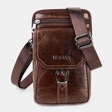 Homens Vintage Shoulder Bolsa Crossbody Bolsa Cintura Bolsa Telefone Bolsa