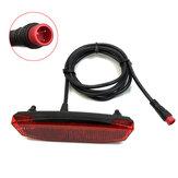 BIKIGHT 6-60V Ebike Rear ضوء / ذيل ضوء LED مصباح خلفي لتحذير السلامة للسكوتر الإلكتروني ضد للماء وحهة المستخدم اتصالات