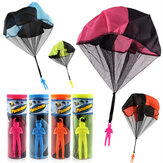 Parachute Toy Throw and Drop outdoor Fun Toy Outdoor Sports Toys Random Color With Soldier Doll