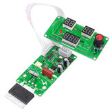 100A Spot Welding Machine Time Current Controller Control Panel Board Adjust Time and Current Module with Digital Display