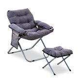 2 sztuk / zestaw składana sofa z podnóżkiem Lazy Lounge Chair Regulowane oparcie dla domu