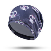 Mens Unisex Print Bicycle Motorcycle Turban Hat