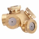 Honana HG-GW 1/4 Inch 4 Hole Brass Spray Nozzle Garden Sprinklers Irrigation Fitting