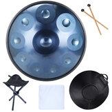 Original              9/10 Notes Musical 22 inch Handpan Drum Professional Flying Saucer Drum Percussion Instrument Tongue Drum