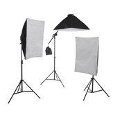 4 cabezales Estudio de fotografía Video Softbox Iluminación Lámpara trípode Kits de brazo de soporte AU