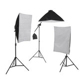 4 Heads Photography Studio Video Softbox Lighting Lamp Tripod Stand Arm Kits AU