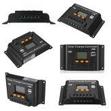 10/20/30/40/50 / 60A 12v / 24v Ajuste PWN Solar Batería Controlador de carga para Solar Soporte de panel Salida USB doble / grande LCD Pantalla
