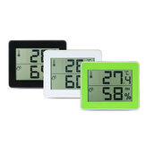TS-E01 Digital Display Thermometer Hygrometer 0℃-50℃ Thermometer Black/White/Yellow-green Desk Thermometer