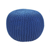 Hand Knit Bean Bag Cover Floor Ottoman Round Stool Chair Cover