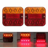 LED Задний фонарь Указатель поворота Стоп тормоза Лампа Красный Янтарь 10-30В 9,3x10,2 см для грузового прицепа