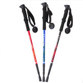 CREEPER Outdoor 3-Section Adjustable Canes Walking Stick Trekking Pole Aluminum Alloy Alpenstock 65-135CM For Camping Hiking Travel Climbing