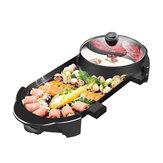 2 In 1 Elektrische Barbecue Grill Teppanyaki Cook Bakoven BBQ Oven Hot Pot Keuken