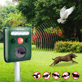 KCASA KC-JK369 Ogród Ultradźwiękowy PIR Czujnik Solar Disaster Animal Strong Flashlight Dog Repeller