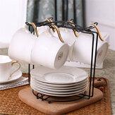 Tazza da caffè 6 tazze Supporto da albero Tazza da appendere Porta rastrelliera Cucina in ordine