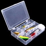 Attrezzo di pesca rimovibile esca attrezzatura da pesca trasparente scatola di immagazzinaggio scatola di attrezzatura