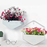Flower Pot Plant Stand Floating Wall Storage Shelves for Room Garden Office