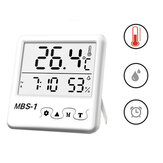 Loskii Digital Large Screen Weather Station Indoor Room Hygrometer Thermometer Clock