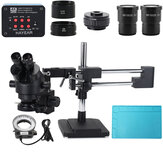 3.5X-90X Dubbele Boom Stand Zoom Simul Focal Trinoculaire Stereo Microscoop + 12MP 4K HDMI USB Industriële Camera Voor telefoon PCB Reparatie