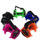 Children Magnetic Luminescence Roller Skates Flashing Wheels Luminous Roller Skating Performance Toys