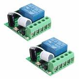 2Pcs DC12V 10A 1CH 433MHz Wireless Relay RF Afstandsbediening Schakelaar