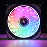 DC 12 V RGB LED 366 Modes Quiet Computer Case PC Cooling Fan 120mm+Remote Control