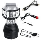 Solar Emergency Light USB Rechargeable 36LED Outdoor Lamp for Camping Hiking Fishing
