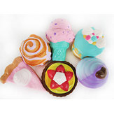 Cake Squishy Big Dessert 10CM Donuts Ice cream 16CM Pizza Bread Jumbo Collection