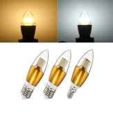 E14 E12 E27 7W SMD 3014 LED Gouden Glas Wit Warm Wit Kaars Lamp Lamp AC 85-265V