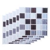 6Pcs / Set Adesivo per piastrelle in PVC Adesivo per scale Adesivo per pavimento rimovibile impermeabile per decorazioni